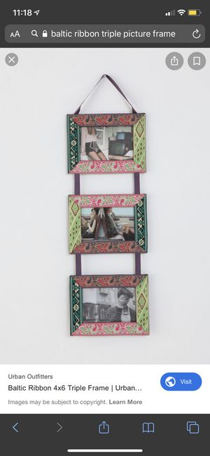 NEW- baltic ribbon triple picture frame 4x6 for Sale in Sunnyvale, CA