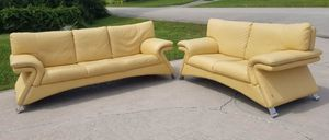 Nicoletti Italian Leather Sofa set Delivery available! for Sale in Melbourne, FL