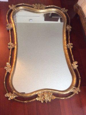 Framed Mirror Gold leaf distressed farmhouse for Sale in Hayward, CA