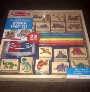 Melissa and Doug wooden stamp set for Sale in Los Angeles, CA