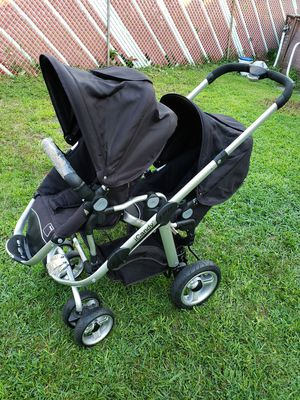Icandy double stroller Apple 🍎 & 🍐 pear Black for Sale in Garfield, NJ