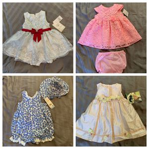 Toddler Girls Dresses Size 12 Plus Baby Combo for Sale in Orlando, FL