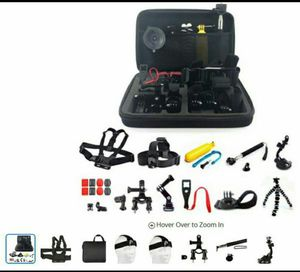 Brand new and unopened 26 piece accessory kit for GoPro camera and compatible for Sale in Miami, FL