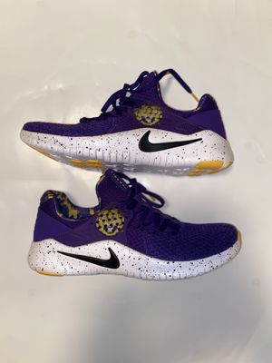 Nike Free TR 8 LSU Tigers College Shoes Trainer Purple AR0413-500 MENS SIZE 7 for Sale in Zachary, LA