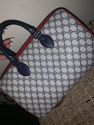 Gucci Boston Bag Large Supreme Red and Blue Leather Tote for Sale in Landover, MD