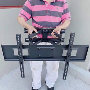 New in box universal 32 to 65 inch swivel full motion tv television wall mount bracket 120 lbs capacity includes hardware screws soporte de tv FREE H for Sale in West Covina, CA