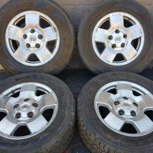 Toyota Tundra or Sequoia alloy 5 lug 18 inch rims for Sale in Pico Rivera, CA