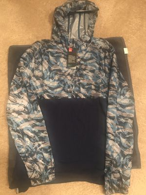 Under Armour Mens 1/4 Zip Hoodie Wind Jacket Windbreaker Sz L for Sale in Fairburn, GA