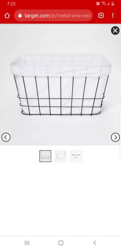 Metal Wire Rectangular Basket with Fabric - for Sale in Olmsted Falls,  OH