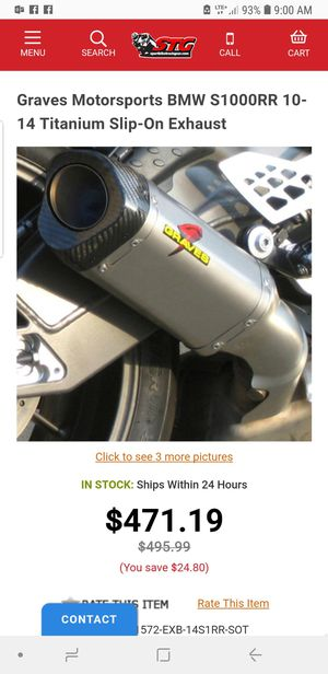 S1000RR graves exhaust slipon new for Sale in Miami, FL