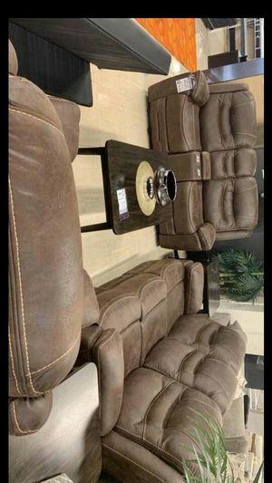 Garrett Brown Power Reclining Living Room Set for Sale in Pflugerville, TX