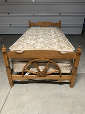 Twin bed with mattress box spring and frame for Sale in Bothell, WA