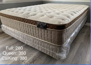 Organic Cloud Edition Siesta Europillow Top Mattress w/Boxspring for Sale in Fresno, CA
