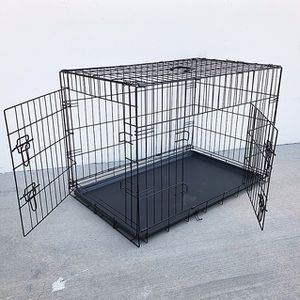 "(NEW) $45 Folding 36"" Dog Cage 2-Door Pet Crate Kennel w/ Tray 36""x23""x25"" for Sale in Whittier, CA"