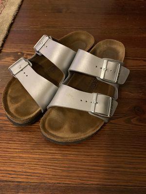 Birkenstock Arizona Silver Sandal Women's 38 (Reg Width) for Sale in Alexandria, VA