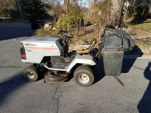 Craftsman 14hp riding mower with bagger for Sale in Woodbine, MD
