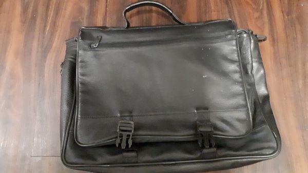 Very Good Condition Black Leather Laptop Bag