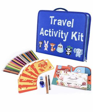 Travel Activity Kit, Laptop Style Desk with Writing and Drawing Accessories for Sale in Quitman, TX