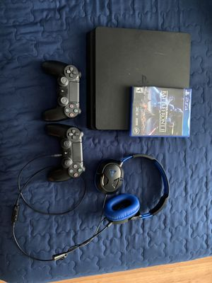 PS4 Slim w/ 2 Controllers for Sale in Garland, TX