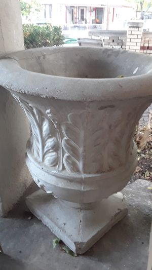 Cement Flower Pot for Sale in Fort Worth, TX