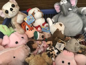 basket of stuffed animals for Sale in Midlothian, VA