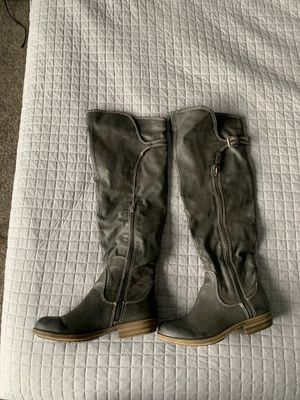 Grey Boots - women's 8.5 - over the knee for Sale in Riverton, UT