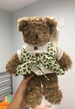 teddy house bear with holly dress for Sale in Garden Grove, CA