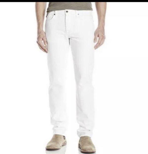 Joe's Jeans Men's The Brixton Ronan Kinetic Straight + Narrow White Jeans Sz 29