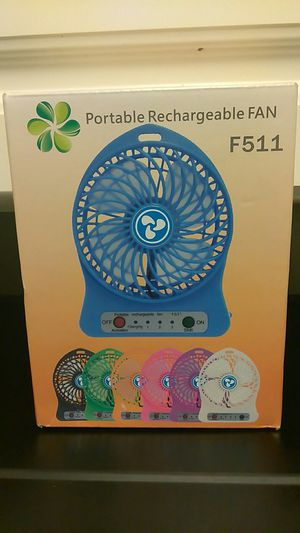 Portable rechargeable fan for Sale in Washington, DC