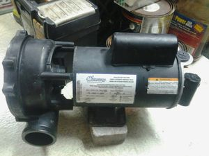 3hp 220v 2 speed century motor with pump housing working hot tub spa for Sale in Pompano Beach, FL