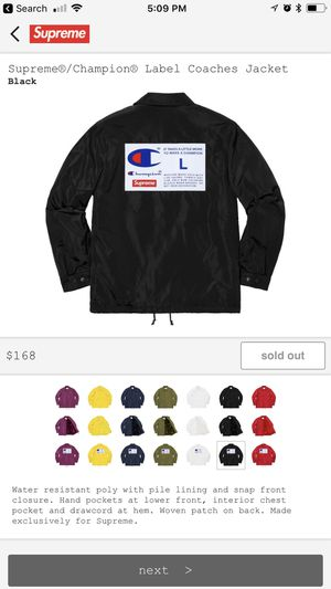 Supreme Coaches Jacket for Sale in Clifton, VA