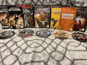 Lot of Star Wars Ps2 Games! Battlefront, star fighter, Episode 3 ect for Sale in Roseville, CA