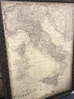 New Antique Map Of Italy Framed Graphic Art for Sale in Virginia Beach,  VA
