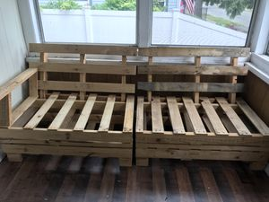 Modern couch made out of pallets for Sale in Lynn, MA