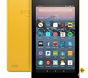 Yellow Amazon fire 7 tablet for Sale in Bellflower, CA