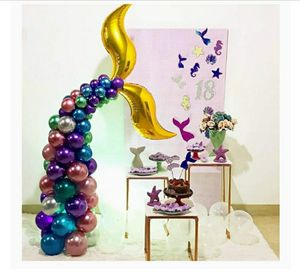 Mermaid tail balloon garland for Sale in Mission, KS
