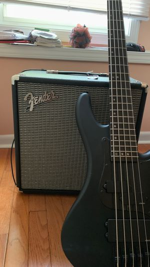 Schecter Bass Guitar and Fender Rumble 40 Amp for Sale in Franklin Park, IL