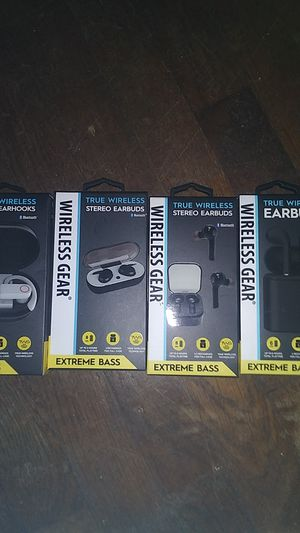 3 New True Wireless Stereo Earbuds,Wireless Earhooks 1 for Sale in Wichita, KS