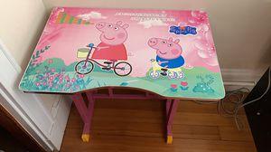 Peppa pig adjustable kid desk for Sale in Belmont, MA