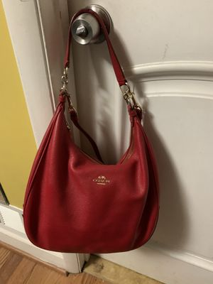 Coach red leather purse hobo bag for Sale in Sterling, VA