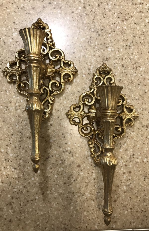 Candlestick holder wall sconces