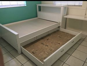 Full Size with pull out Twin BED for kids room!! for Sale in West Palm Beach, FL