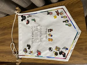 Flag Banner with Disney Pins for Sale in Manteca, CA