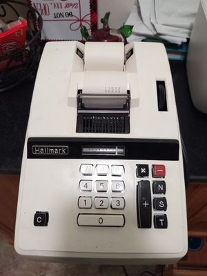 VINTAGE HALLMARK ELECTRIC ADDING MACHINE MODEL AM-890 EXCELLENT CONDITION for Sale in San Bernardino, CA