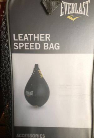 Everlast Leather Speed Bag for Sale in Pomona, CA