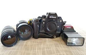 Nikkon F4 professional film camera with lenses for Sale in Fairfax, VA