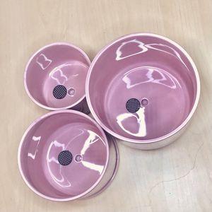 3pcs/set New Barbie Pink Ceramic Flower Pot for Sale in La Habra, CA