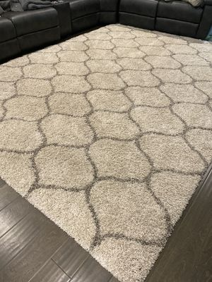 Gray and Ivory Shag Rug for Sale in Tampa, FL