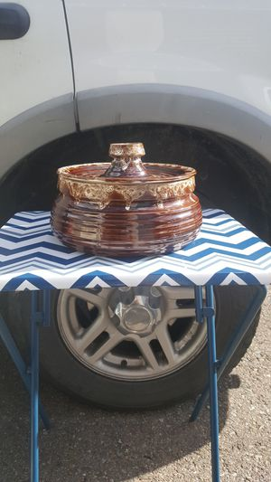 Big beautiful bowl with lid for Sale in Missoula, MT