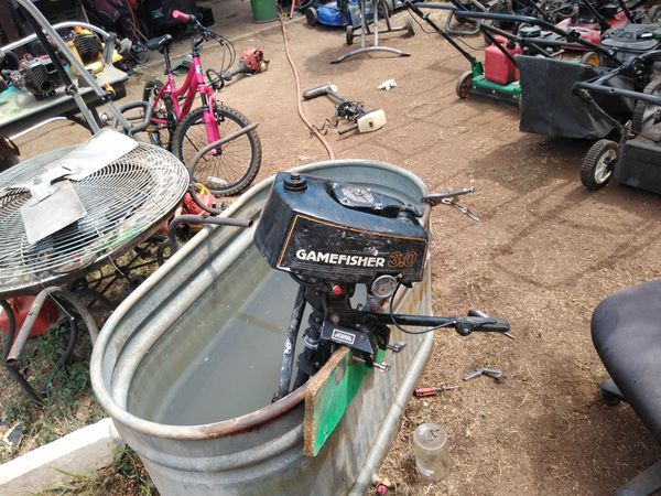 Gamefisher 3.0 HP outboard boat motor